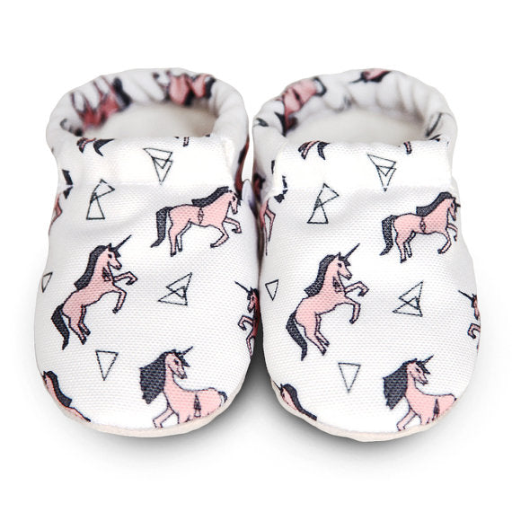 Aldea Home Baby Pink Unicorn Baby Shoes