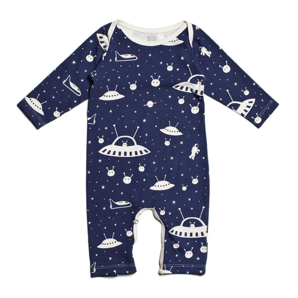 Outer Space Long Sleeve Romper