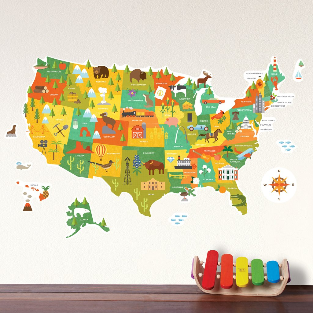 USA Fabric Wall Decals