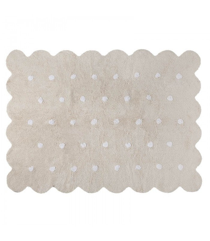 Washable Rug Biscuit Beige