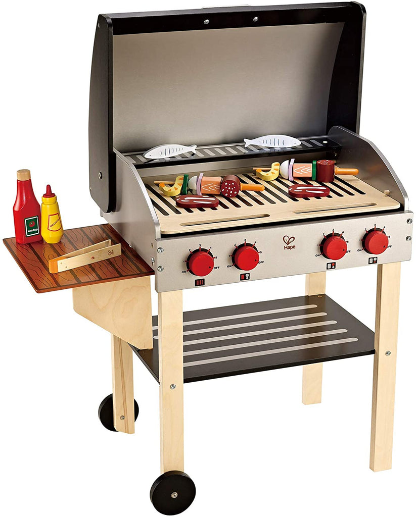 Gourmet Grill and Shish Kabob Wooden Play Kitchen