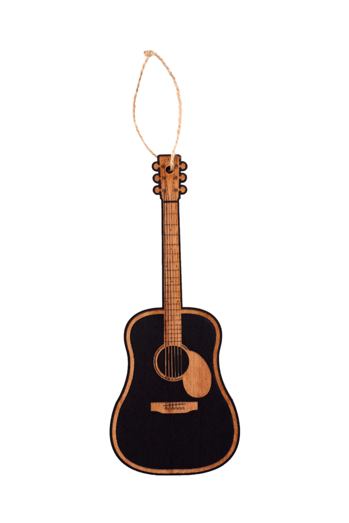 Wooden Guitar Ornament