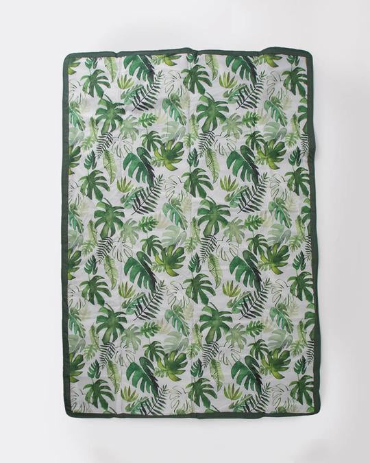 Tropical Leaf 5 x 7 Outdoor Blanket