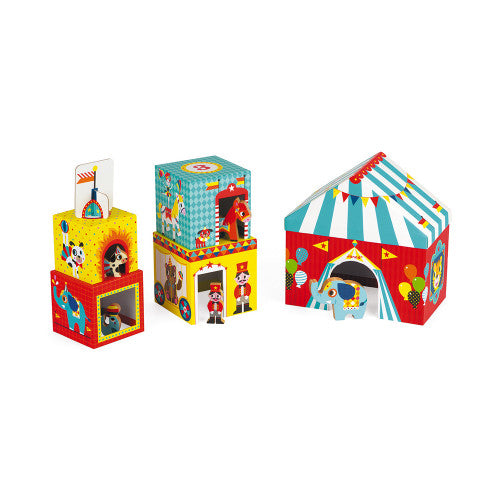 MultiKub Circus Stacker with Figures