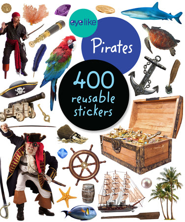 Pirates 400 Reusable stickers