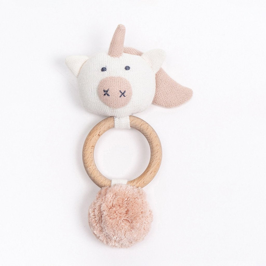 Organic Cotton Rattle Unicorn