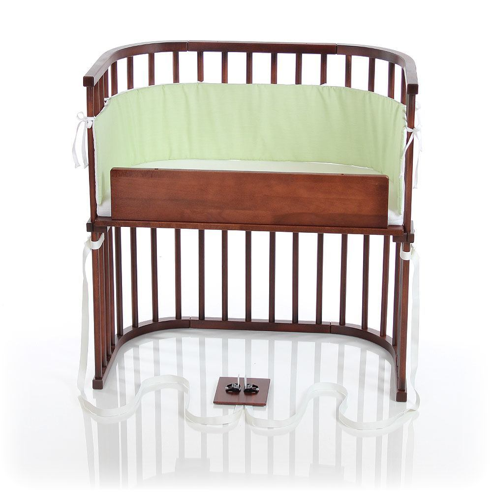 babybay Bedside Sleeper - Deep Walnut Stain Finish