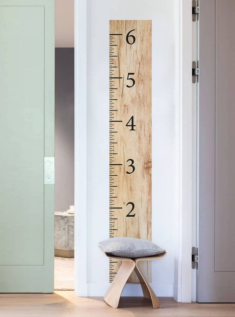 Wooden Growth Chart Wall Sticker