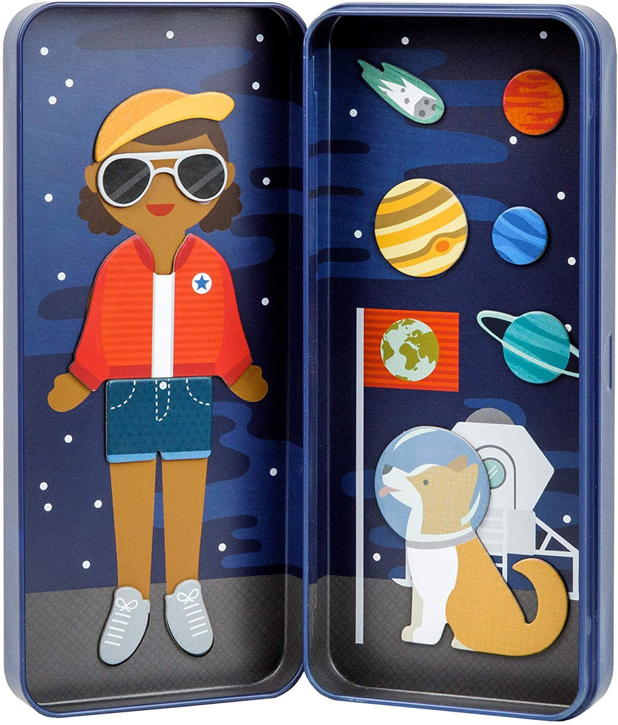 Space bound magnetic dress up kit