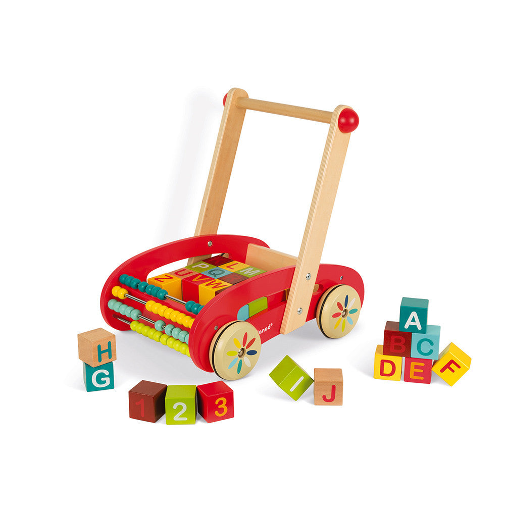 TATOO ABC BUGGY CART 30 BLOCKS (WOOD)