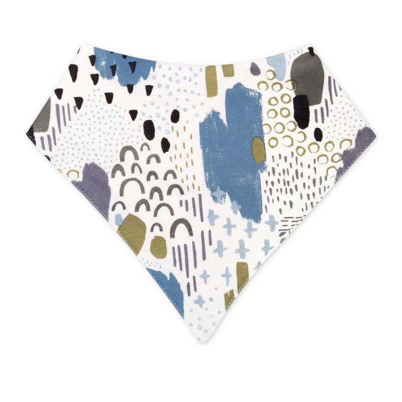 Organic Cotton Bandana Bib – Abstract Dusk