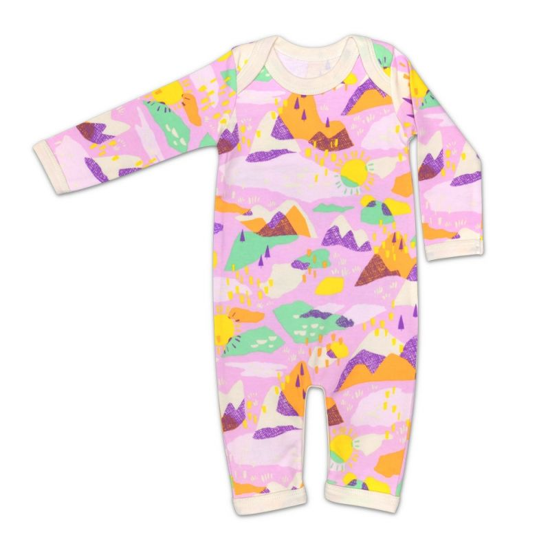 Organic Cotton Coverall - Pink Mountain