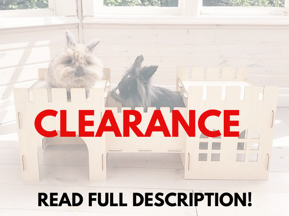 TokiHut Clearance Wooden Rabbit Homes