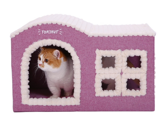 Tokihut Cottage - Durable wooden house for cats, small dogs and rabbits