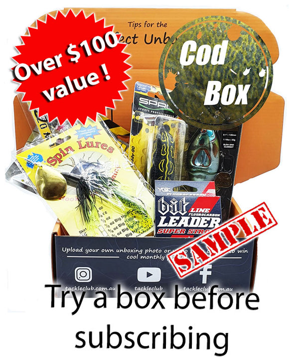 Freshwater Cod Box One off box