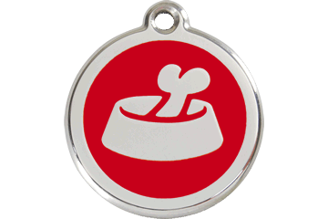 Red Dingo Dog Tag Bone In Bowl Dog Tag- Jurassic Bark Pet Store Littleport Ely Cambridge