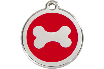 Red Dingo Dog Tag Bone Dog Tag- Jurassic Bark Pet Store Littleport Ely Cambridge