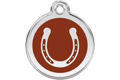 Red Dingo Dog Tag Horse Shoe Tag Dog- Jurassic Bark Pet Store Littleport Ely Cambridge