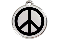 Red Dingo Dog Tag Peace Tag Dog- Jurassic Bark Pet Store Littleport Ely Cambridge