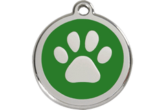 Red Dingo Dog Tag Paw Print Tag Dog- Jurassic Bark Pet Store Littleport Ely Cambridge