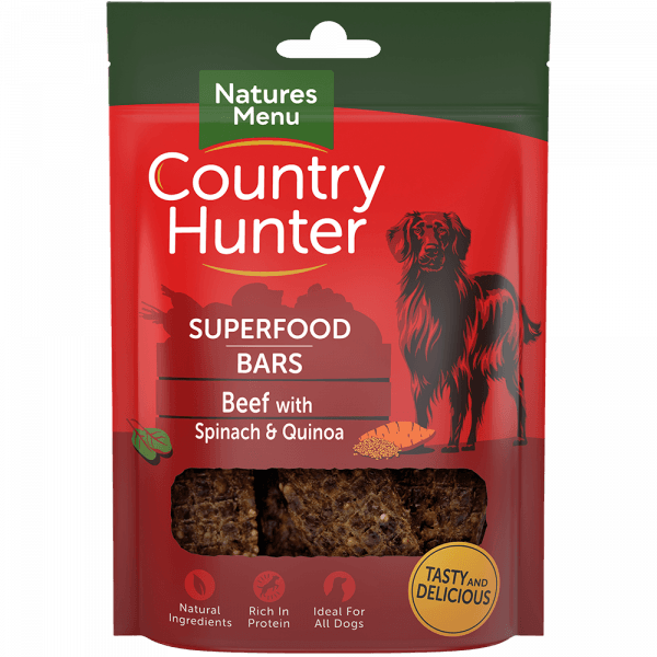 Natures Menu Superfood Bars Beef with Spinach & Quinoa Dog Treats- Jurassic Bark Pet Store Littleport Ely Cambridge