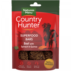 Superfood Bars Beef with Spinach & Quinoa Dog Treats- Jurassic Bark Pet Store Littleport Ely Cambridge