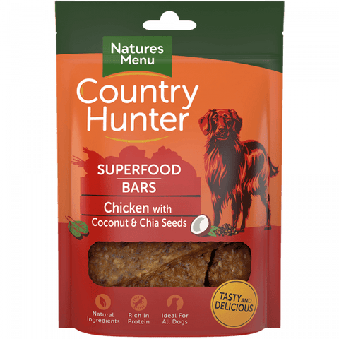 Natures Menu Superfood Bars Chicken with Coconut & Chia Seeds Dog Treats- Jurassic Bark Pet Store Littleport Ely Cambridge