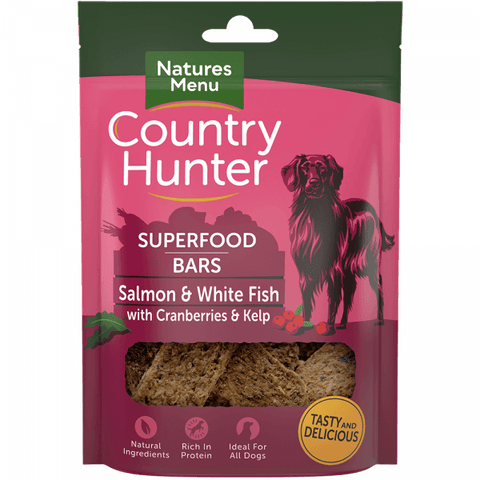 Natures Menu Superfood Bars Salmon & White Fish with Cranberries & Kelp Dog Treats- Jurassic Bark Pet Store Littleport Ely Cambridge