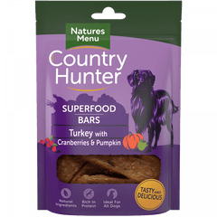 Natures Menu Superfood Bars Turkey with Cranberries & Pumpkin Dog Treats- Jurassic Bark Pet Store Littleport Ely Cambridge