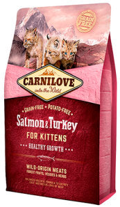 Carnilove Salmon & Turkey for Kittens – Healthy Growth Cat Food Dry- Jurassic Bark Pet Store Littleport Ely Cambridge
