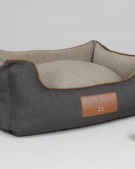 George Barclay Hyde Orthopaedic Walled Dog Bed, Espresso/Latte