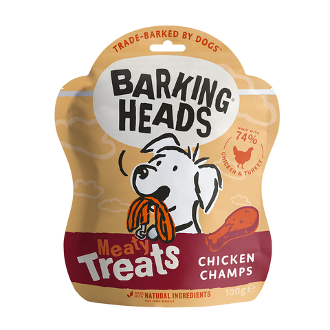 Barking Heads Chicken Champs 100g