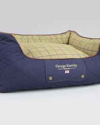 George Barclay Country Orthopaedic Walled Dog Bed, Midnight Blue - Medium