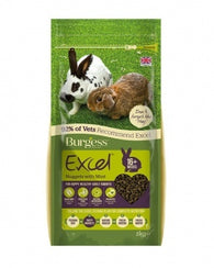 Burgess Excel Adult Rabbit Nuggets with Mint Small Animal- Jurassic Bark Pet Store Littleport Ely Cambridge
