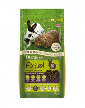 Burgess Excel Adult Rabbit Nuggets with Mint Small Animal Food- Jurassic Bark Pet Store Littleport Ely Cambridge
