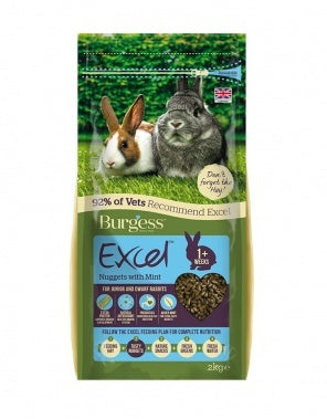 Burgess Excel Junior & Dwarf Rabbit Nuggets with Mint - Jurassic Bark Pet Store Littleport Ely Cambridge
