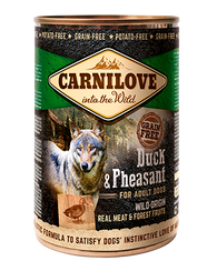 Carnilove 6 x 400g Duck & Pheasant For Adult Dogs dog food wet- Jurassic Bark Pet Store Littleport Ely Cambridge