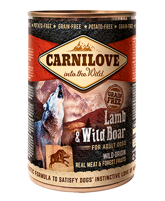 Carnilove 6 x 400g Lamb & Wild Boar For Adult Dogs dog food wet- Jurassic Bark Pet Store Littleport Ely Cambridge
