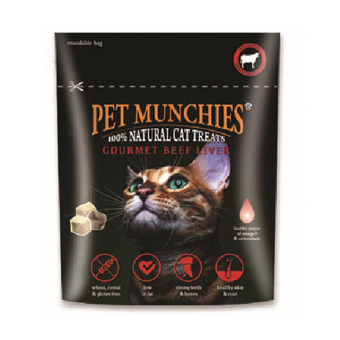 Pet Munchies Cat Gourmet Beef Liver Treats Cat Treats- Jurassic Bark Pet Store Littleport Ely Cambridge