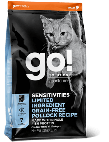 Go! Solutions - Sensitivities Pollock Recipe Cat Food - Jurassic Bark Pet Store Littleport Ely Cambridge