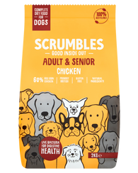 Scrumbles Adult & Senior Dog Chicken Dog Food Dry- Jurassic Bark Pet Store Littleport Ely Cambridge
