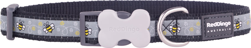 Red Dingo Bumble Bee Dog Collar dog collar- Jurassic Bark Pet Store Littleport Ely Cambridge