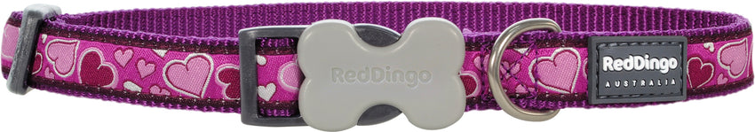 Red Dingo Breezy Love Dog Collar Dog Collar- Jurassic Bark Pet Store Littleport Ely Cambridge