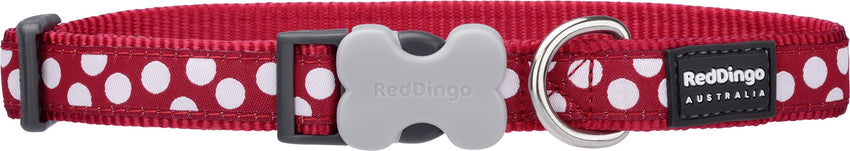 Red Dingo Red Spots Dog Collar Dog Collar- Jurassic Bark Pet Store Littleport Ely Cambridge