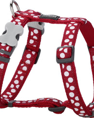 Red Dingo Spots Dog Harness Harness Dog- Jurassic Bark Pet Store Littleport Ely Cambridge