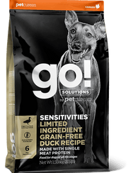 Go! Solutions - Sensitivities Duck Recipe Dog Food - Jurassic Bark Pet Store Littleport Ely Cambridge