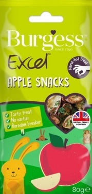 Burgess Excel Small Animal Apple Snacks 80g Small Animal Treats- Jurassic Bark Pet Store Littleport Ely Cambridge