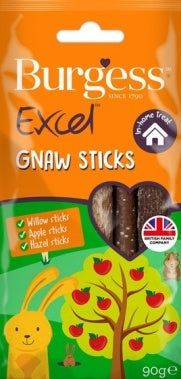 Burgess Excel Snacks Gnaw Sticks - Jurassic Bark Pet Store Littleport Ely Cambridge