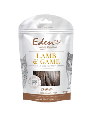 EDEN Lamb and Game Treat 100g Dog Treats- Jurassic Bark Pet Store Littleport Ely Cambridge