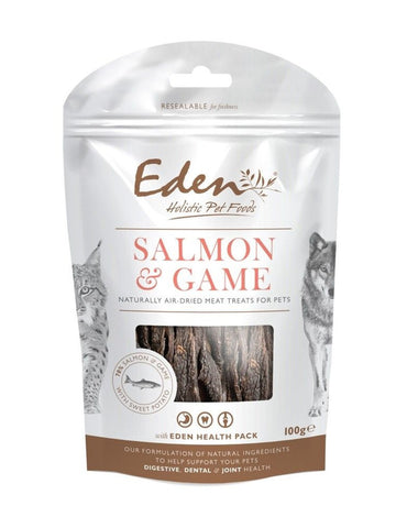 EDEN Salmon and Game Treat 100g Dog Treats- Jurassic Bark Pet Store Littleport Ely Cambridge